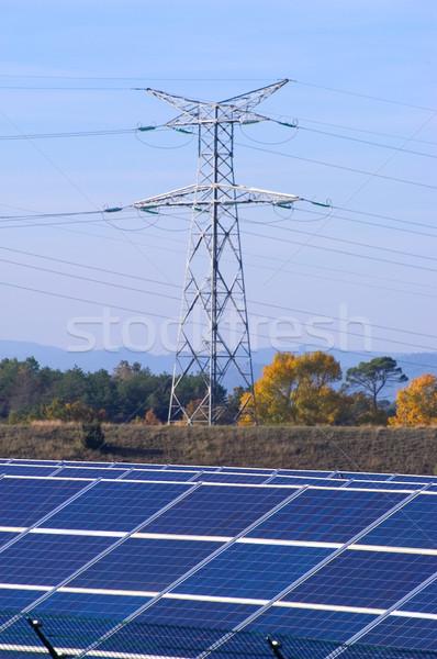Stock photo: Photovoltaic power plant