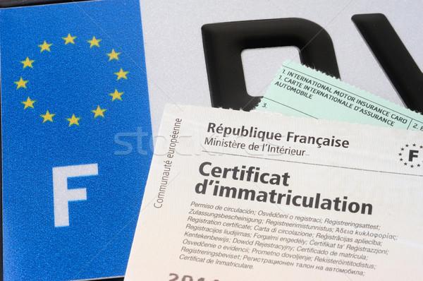 automobile registration Stock photo © Gilles_Paire