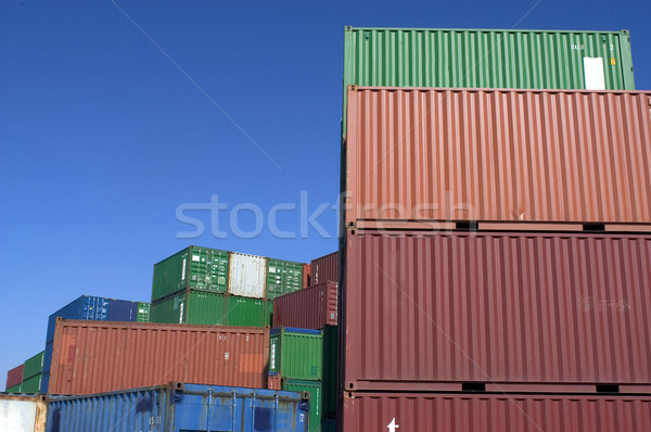 containers at the port for shipment Stock photo © Gilles_Paire