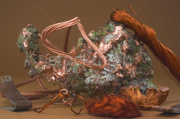медь дорогой электрических кабелей деньги природы Сток-фото © Gilles_Paire