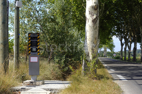 Radar on a French road Stock photo © Gilles_Paire