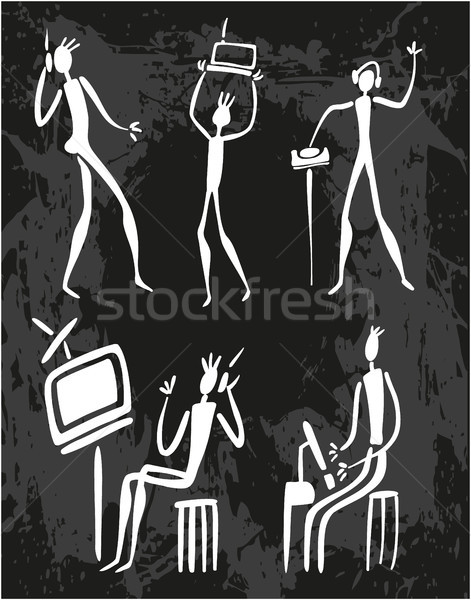 Man Human Evolution Technology Stock photo © gintaras