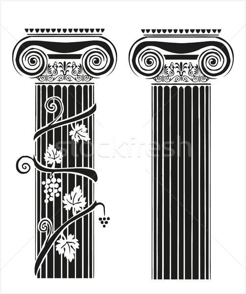 Two columns with grapes Stock photo © gintaras