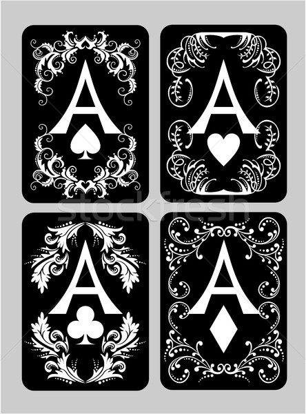 Poker cards Aces set Stock photo © gintaras