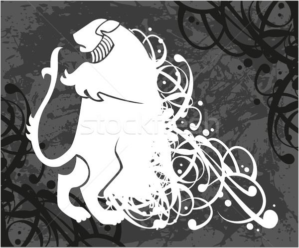 Lion, coat of arms Stock photo © gintaras