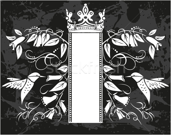 Decorative frame with crown Stock photo © gintaras