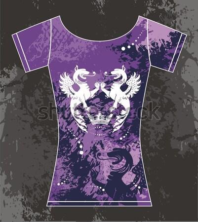 孔雀 Tシャツ ファッションデザイン ファッション 羽毛 ストックフォト © gintaras