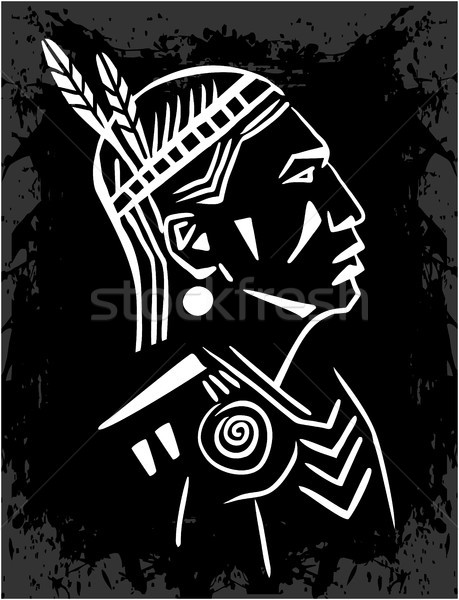 North American Indian Stock photo © gintaras