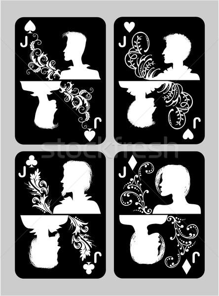 Poker cards Jack set Stock photo © gintaras