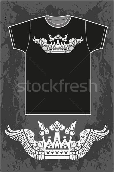 Black short sleeved T-shirt Stock photo © gintaras