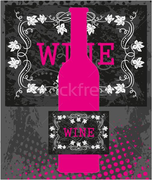 Pink wine bottle Stock photo © gintaras