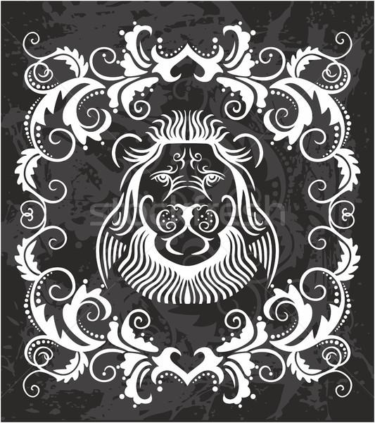 Heraldic Lion Head Stock photo © gintaras