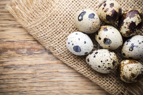 Quail eggs. Easter greeting card. Stock photo © gitusik