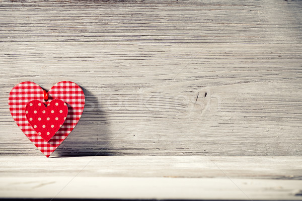 Stock photo: Vintage heart.