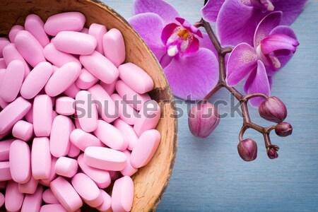 Foto stock: Sal · marina · orquídeas · flor · madera · naturaleza