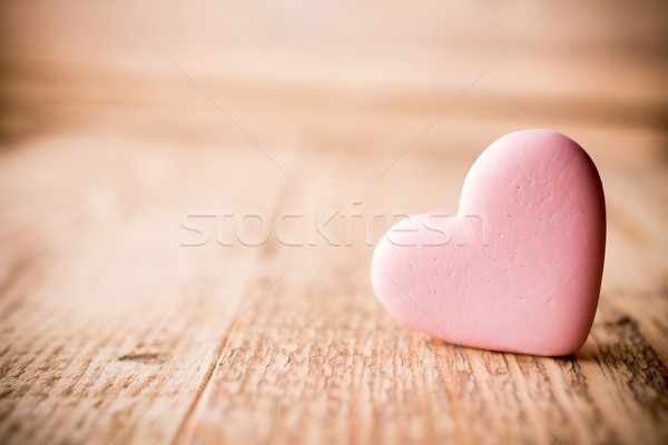 Pink heart. Stock photo © gitusik