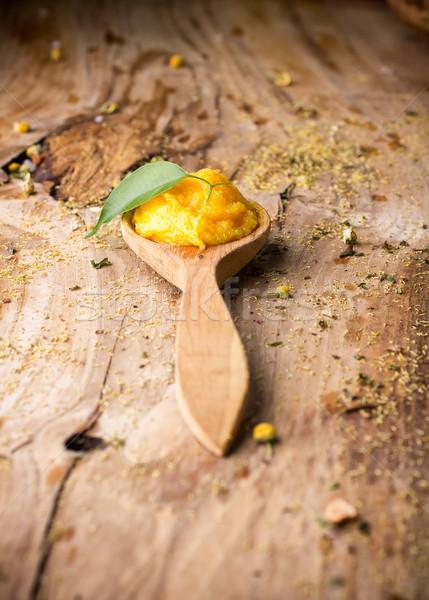 マンゴー ボディ バター 草 自然 ストックフォト © gitusik