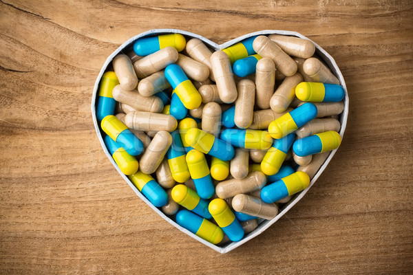 Herbal drug capsules. Stock photo © gitusik
