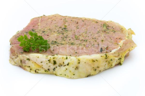 Carne de porco marinado isolado branco fundo Foto stock © gitusik