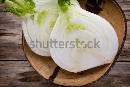 Koper puchar Sałatka warzyw żarówki Zdjęcia stock © gitusik