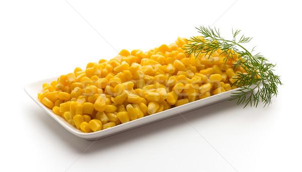 Stack of sweetcorn kernels. Stock photo © gitusik