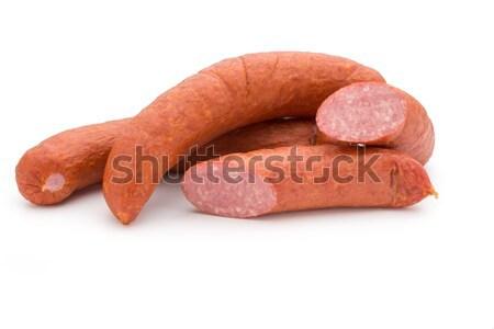 Gerookt worst witte vet lunch product Stockfoto © gitusik