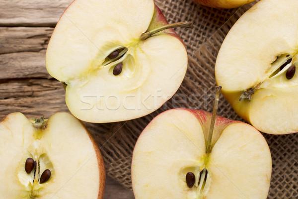 リンゴ 木製 食品 フルーツ 夏 グループ ストックフォト © gitusik