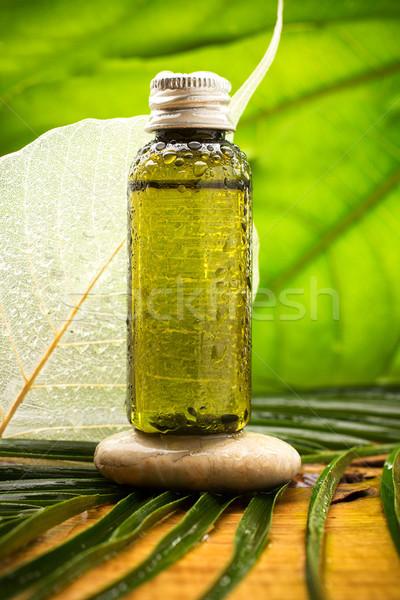 アロマセラピー ボディ 油 自然 葉 健康 ストックフォト © gitusik