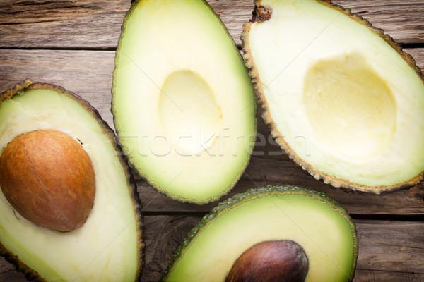 Avokado ahşap masa gıda yeşil yeme Stok fotoğraf © gitusik