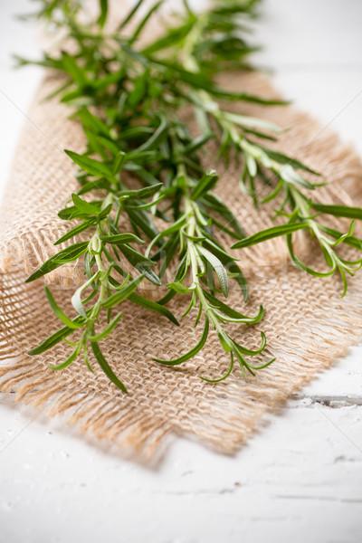 ローズマリー 白 木製 食品 夏 緑 ストックフォト © gitusik