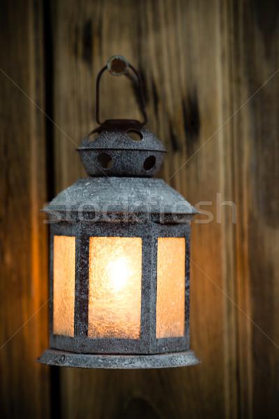 クリスマス 光 燭台 木製 飾り ツリー ストックフォト © gitusik