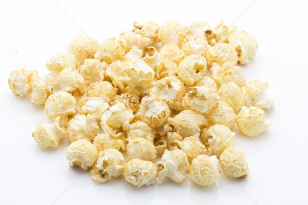 Patlamış mısır yalıtılmış beyaz gıda stüdyo nesne Stok fotoğraf © gitusik