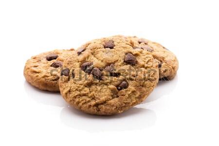 Cookies chocolade chips ecologisch product Stockfoto © gitusik