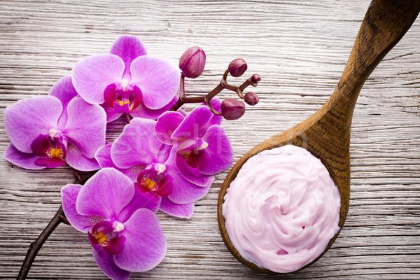 Rosa orchidea fiore biglietto d'auguri sfondo bellezza Foto d'archivio © gitusik