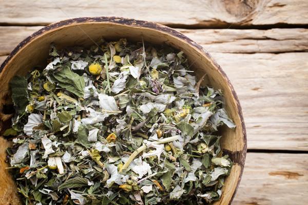 Thé médecine alternative homéopathiques autre herbe Photo stock © gitusik