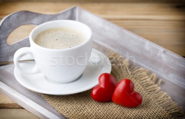 Coffee and macaroons. Stock photo © gitusik