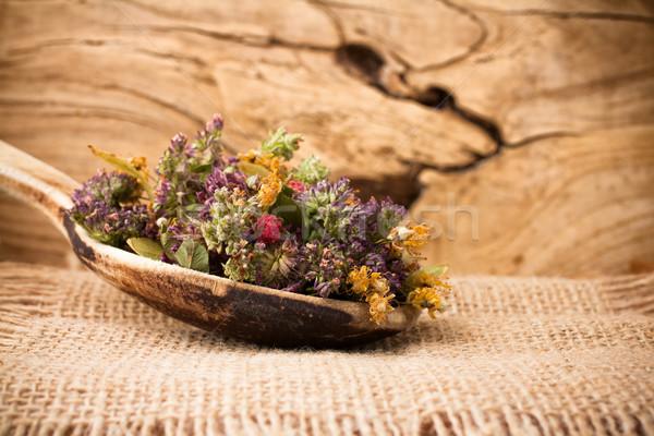 Bitkisel çaylar kuru çiçek çim sağlık Stok fotoğraf © gitusik
