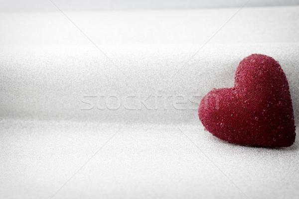Cuori rosso cuore argento carta vintage Foto d'archivio © gitusik