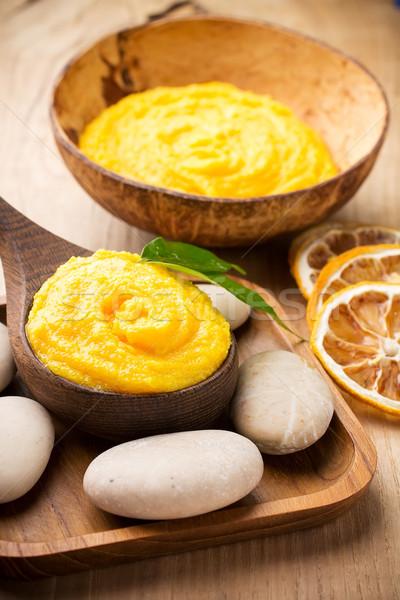 Mango lichaam boter gezondheidszorg aromatherapie natuur Stockfoto © gitusik