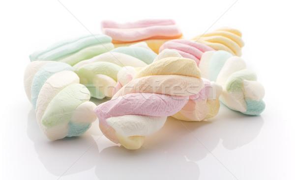 Malvavisco dulces aislado blanco grupo comer Foto stock © gitusik