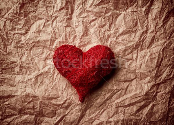 Walentynki serca serca starych vintage papieru Zdjęcia stock © gitusik