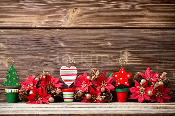 Navidad fondos decoración madera resumen Foto stock © gitusik