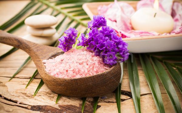 Foto stock: Aromaterapia · estância · termal · corpo
