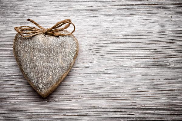 Foto stock: Vintage · corazón · estilo · madera · pared