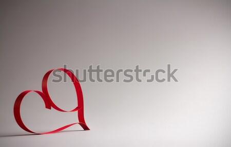 Valentijnsdag vel papier hart Valentijn Stockfoto © gitusik