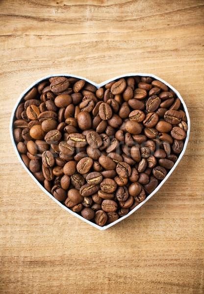 コーヒー豆 ボックス 木製 表面 食品 コーヒー ストックフォト © gitusik