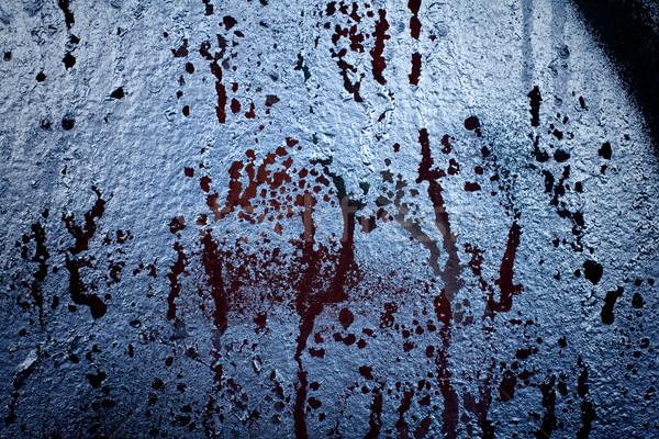 Metal velho sujo parede pintar Foto stock © gitusik