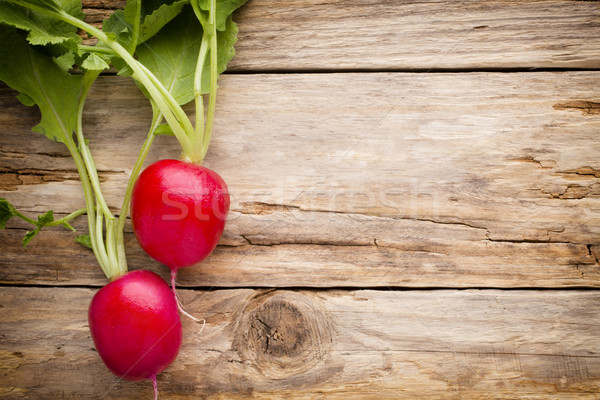 Turp ahşap masa tablo bitki yeme arka Stok fotoğraf © gitusik
