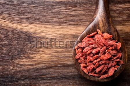 Sal marina cuchara de madera marrón madera naturaleza Foto stock © gitusik