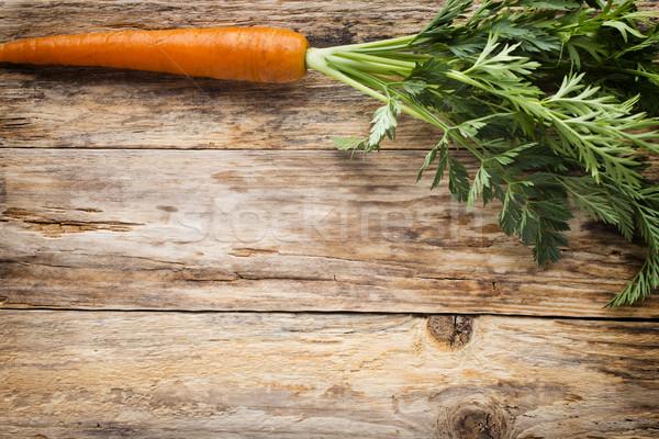Friss répák fából készült étel levél narancs Stock fotó © gitusik